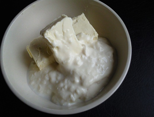 butter and yoghurt