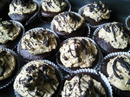 PB Choc Cupcakes