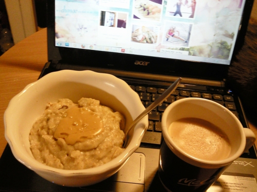 eggy oats and coffee