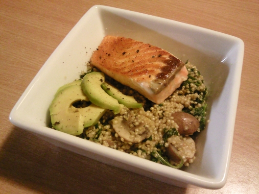 kale quinoa and salmon
