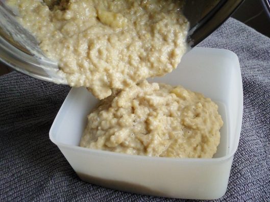 fluffy banana oats