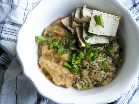 rice eggplant and tofu