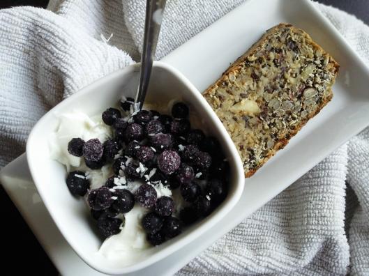 yogurt and bread