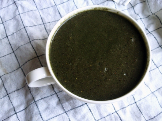 dark green smoothie