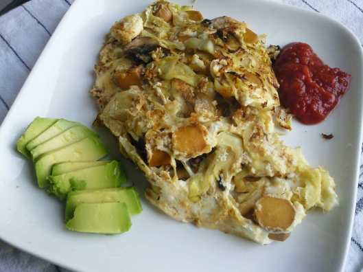 cabbage omelet