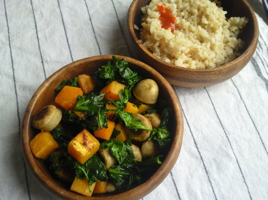 sweet potato spinach stir fry