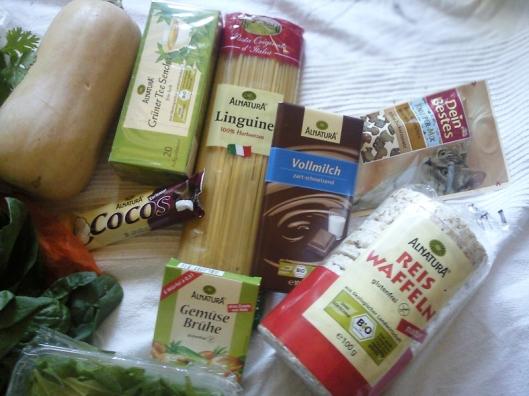 organic grocery haul