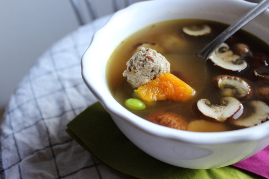 light meatball soup