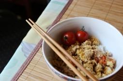tuna tomato scramble