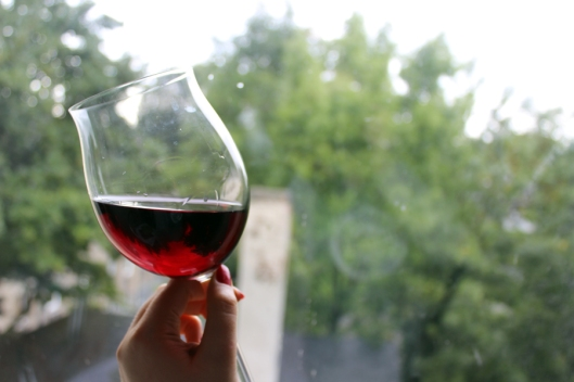 rainy day red wine