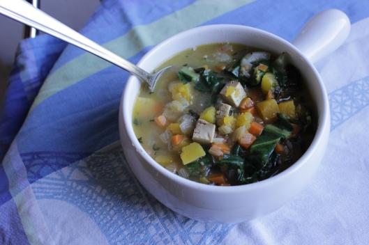 butternut chard soup