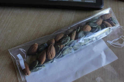 almond pumpkin seed snack